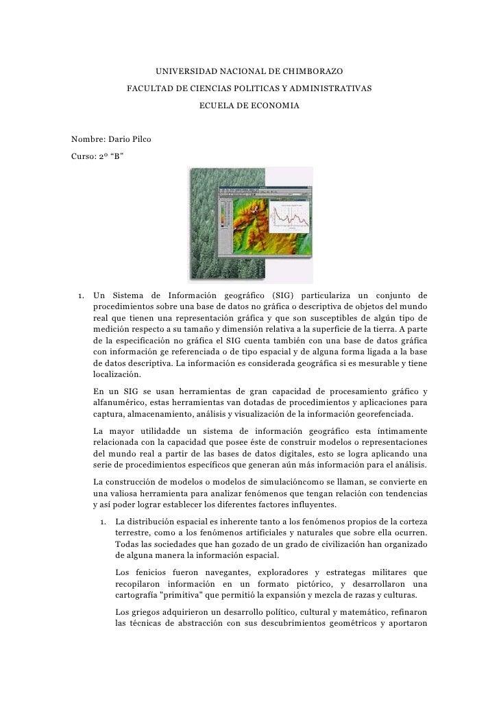 UNIVERSIDAD NACIONAL DE CHIMBORAZO<br />FACULTAD DE CIENCIAS POLITICAS Y ADMINISTRATIVAS<br />ECUELA DE ECONOMIA<br />Nomb...