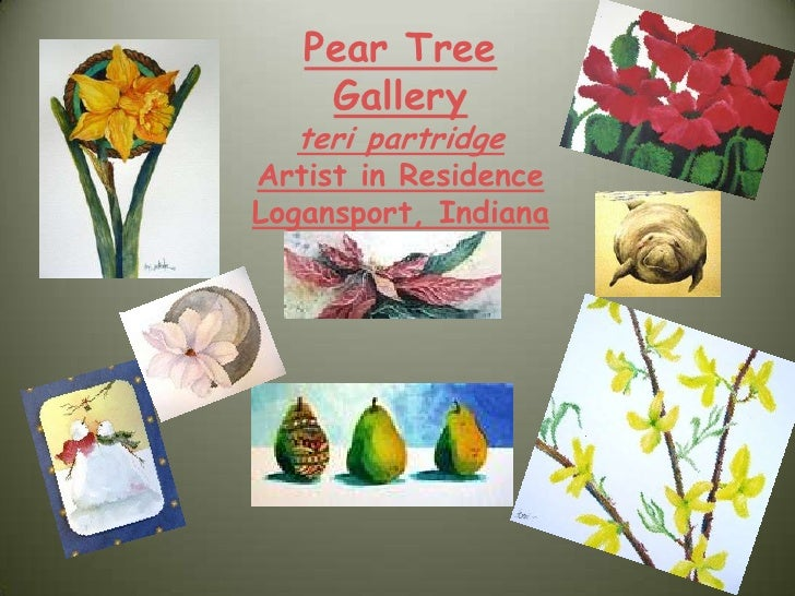 Pear Tree Gallery<br />teri partridge<br />Artist in Residence<br />Logansport, Indiana<br />
