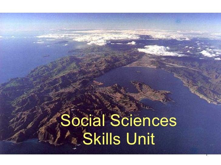 Social Sciences Skills Unit