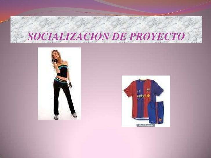 SOCIALIZACION DE PROYECTO<br />