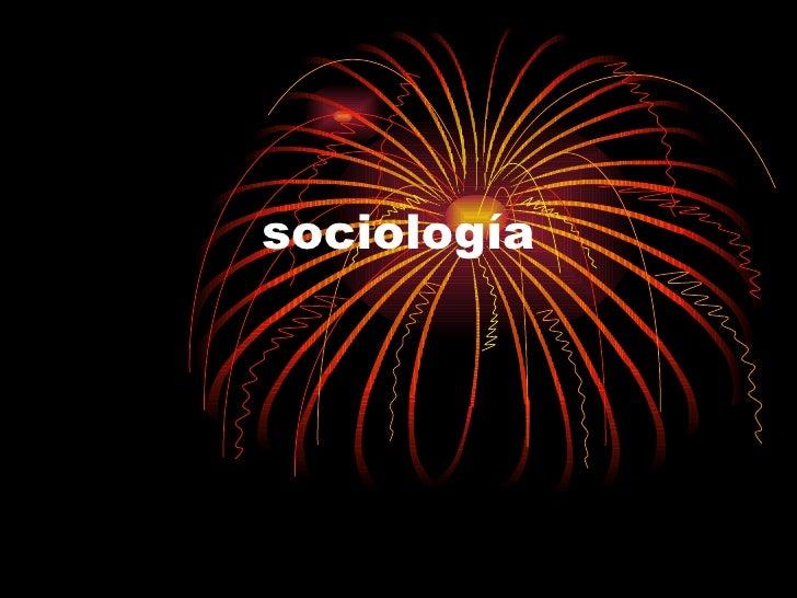 la socologia