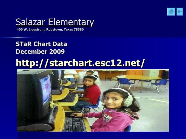 Salazar Elementary   400 W. Ligustrum, Robstown, Texas 78380 STaR Chart Data  December 2009 http://starchart.esc12.net/