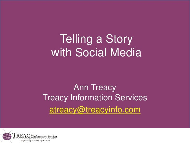 Telling a story using social media