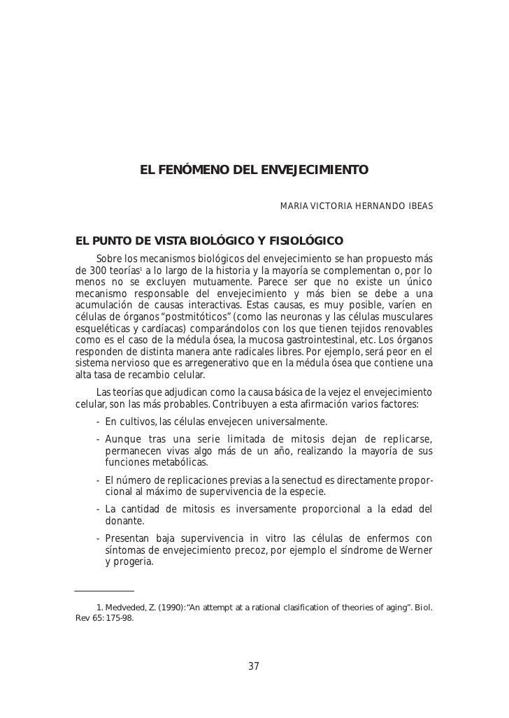 EL FENÓMENO DEL ENVEJECIMIENTO                                                         MARIA VICTORIA HERNANDO IBEAS   EL ...