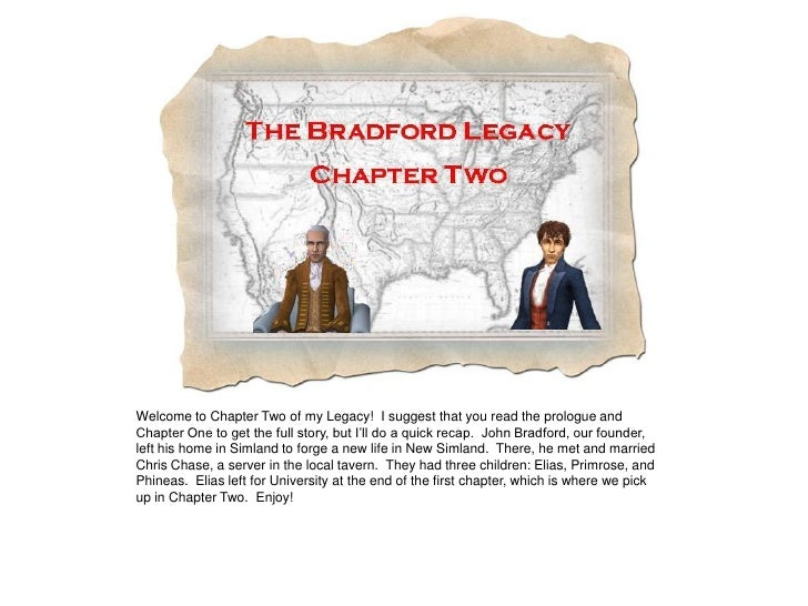 Welcome to Chapter Two of my Legacy! I suggest that you read the prologue and Chapter One to get the full story, but I'll ...
