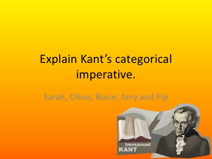 kant suicide 1 kant's formula of universal law christine m korsgaard kant's first formulation of the categorical imperative, the formula of universal law, runs.