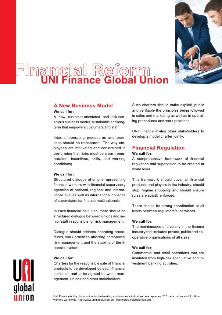 UNI Finance Global Union                                                                              © erel phoTogrAphy  ...