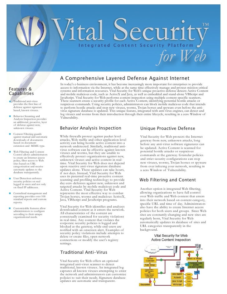for Web                                     A Comprehensive Layered Defense Against Internet                              ...