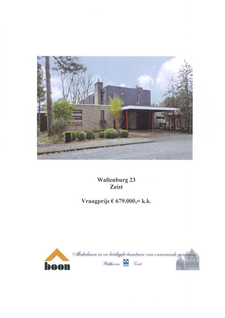 Wallenburg 23, 3707 AP, Zeist (www.boonmakelaars.nl)