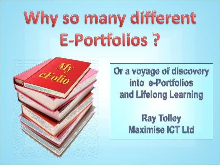 Why so many e-Portfolios?