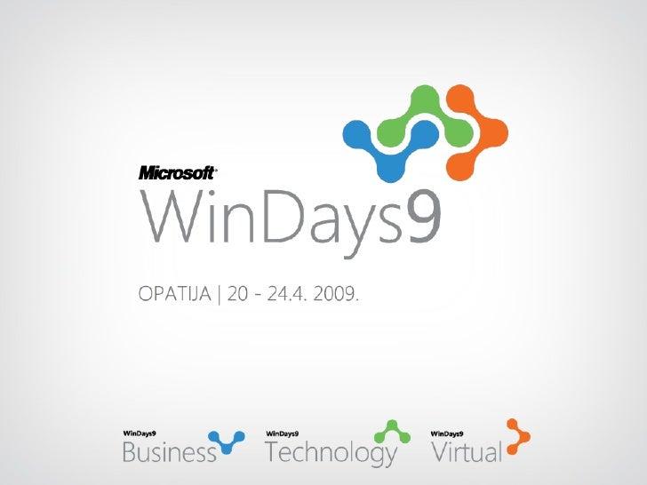Marketing za IT geekove, mikrotvrtke i nemarketingaše (Vatroslav Mihalj, WinDays 2009)