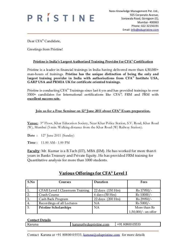 cfa level i june batch letter