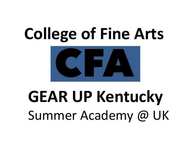 Presentation by Beth Ettensohn at GEAR UP KY Summer Academy@UK Final Showcase Event, July 11, 2014