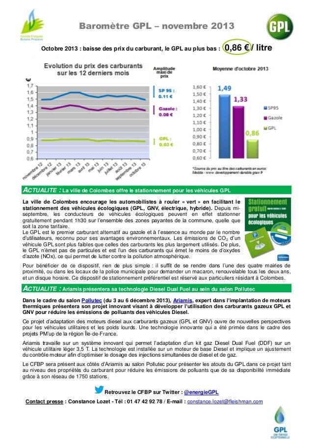 VITOGAZ présente : Cfbp   baromètre gpl - novembre 2013