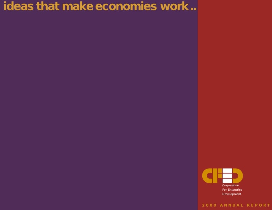 ideas that make economies work ... for everyone                                              Corporation                  ...