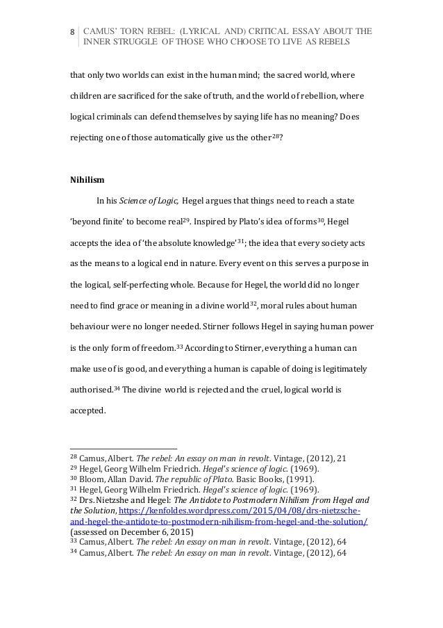 Camus essays online