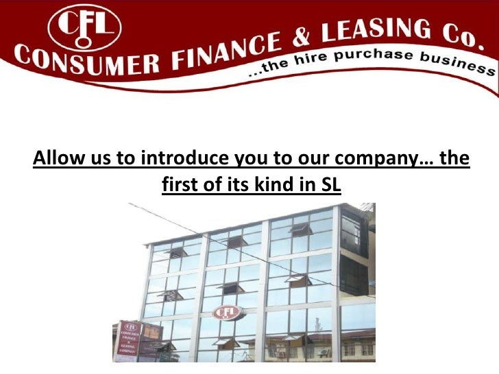 Consumer Finance and Leasing Company (Sierra Leone) group presentation