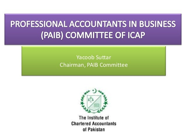 Professional Accountants in Business Committee of ICAP