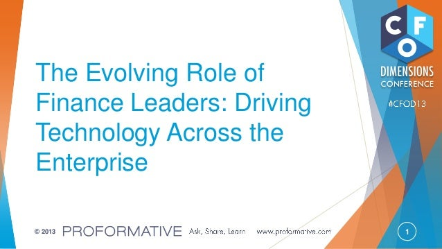 The Evolving Role of Finance Leaders: Driving Technology Across the Enterprise