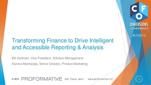 Transforming Finance to Drive Intelligent and Accessible Reporting & Analysis