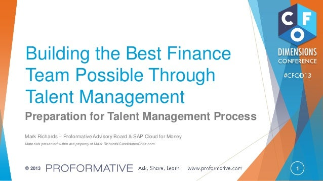 Building the Best Finance Team Possible Through Talent Management