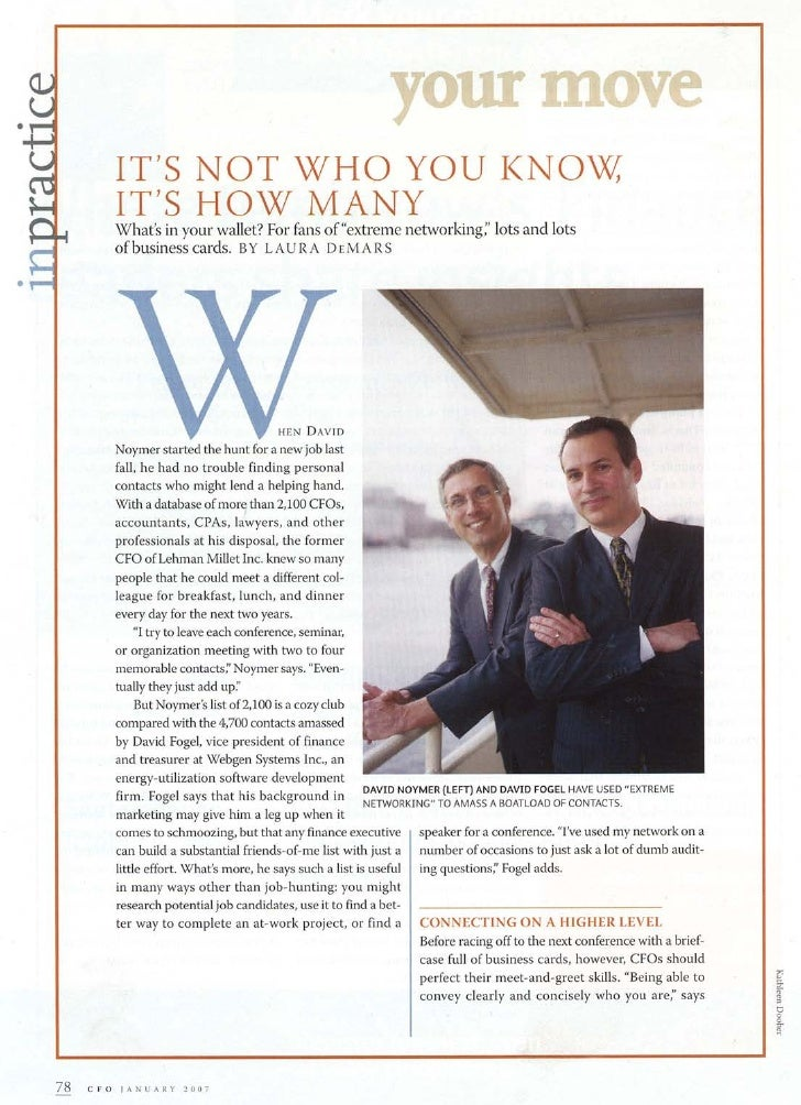 CFO Magazine - January 2007