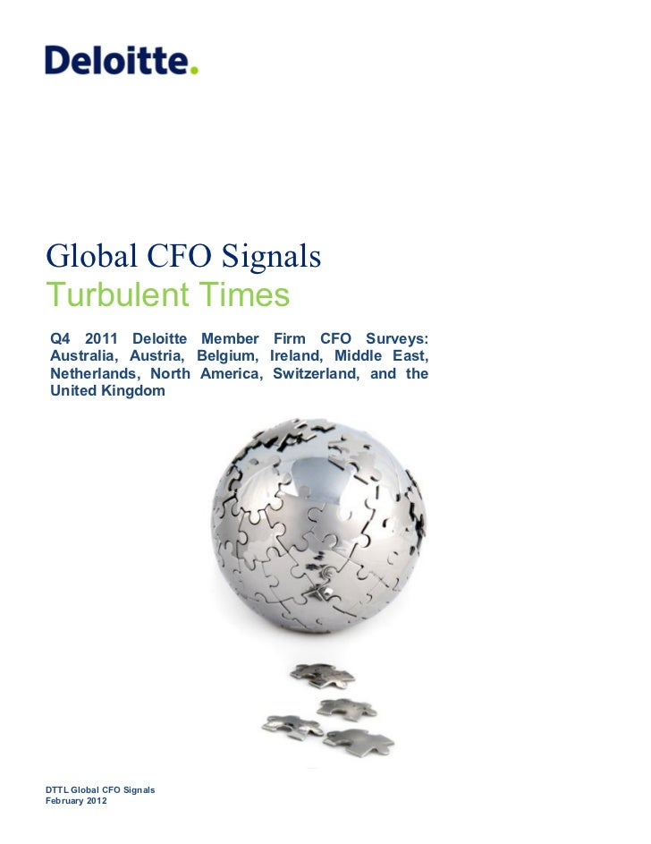Deloitte CFO Global Signals 4Q 2011