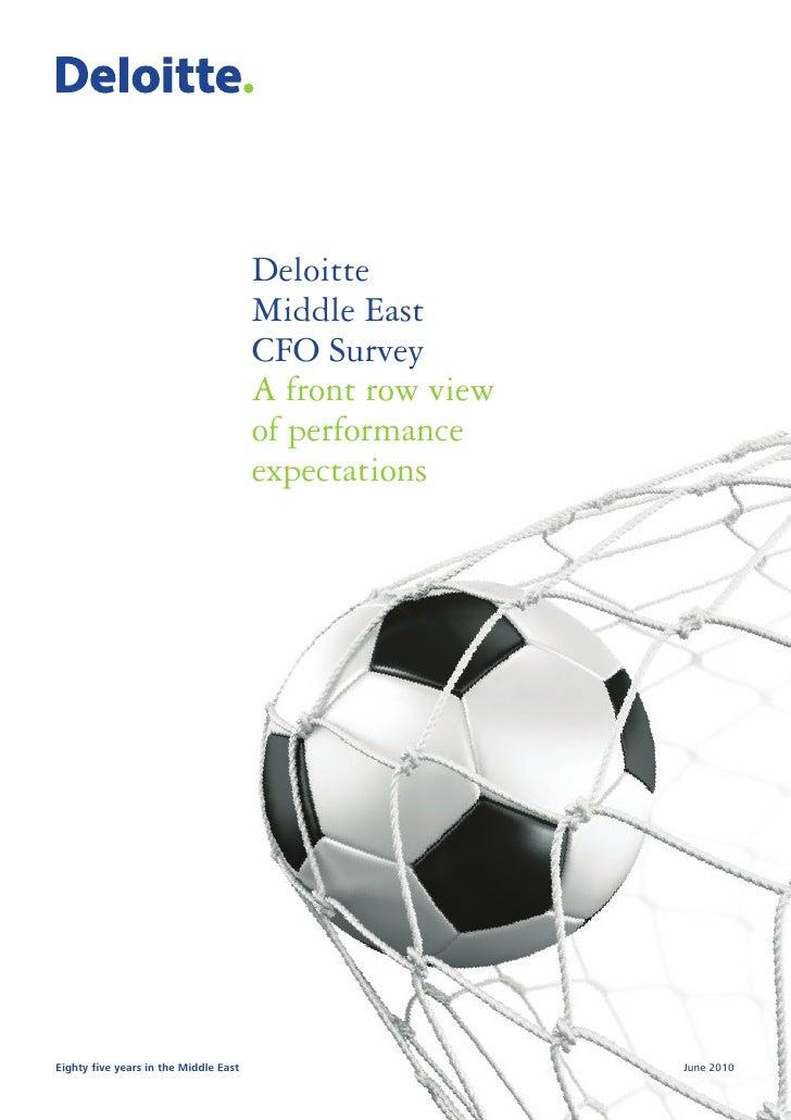 Deloitte                                        Middle East                                        CFO Survey             ...