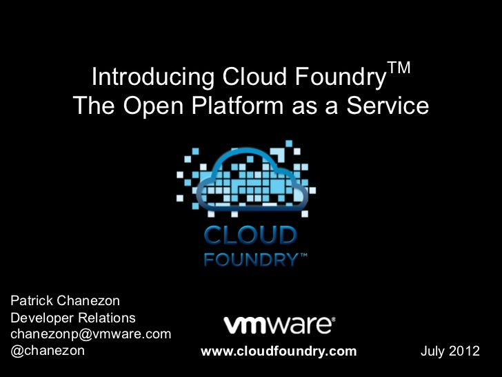 Cloud Foundry Overview