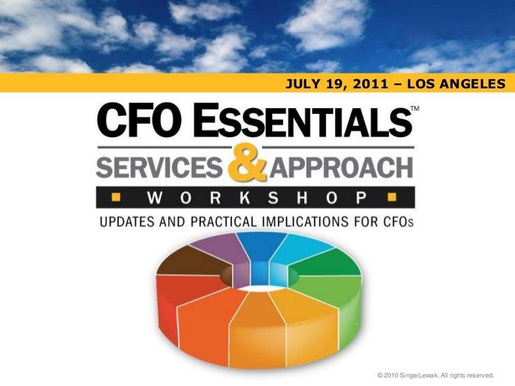 CFO Essentials Workshop - Los Angeles