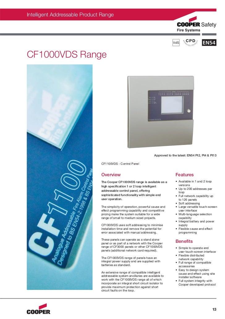 Intelligent Addressable Product RangeCF1000VDS Range                                                                      ...