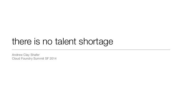 cloud foundry summit - no talent shortage