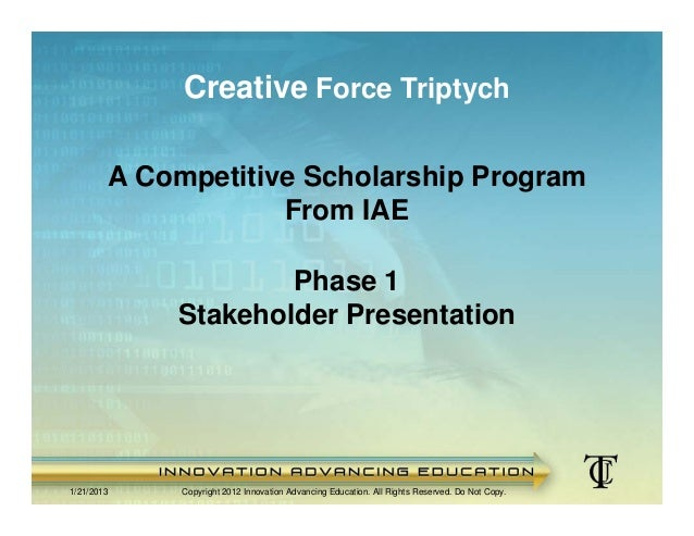 Creative Force Triptych Scholarship Program - Stakeholder Version