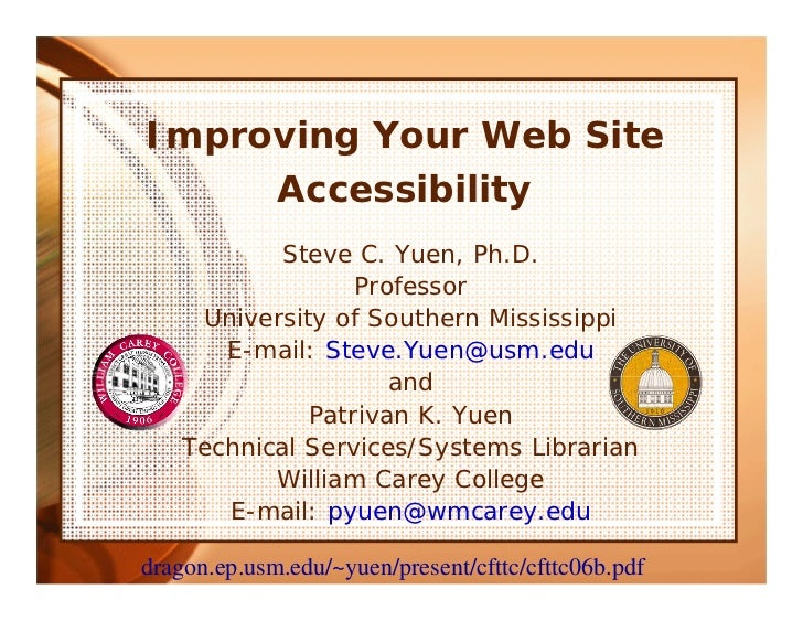 Improving Your Web Site Accessibility