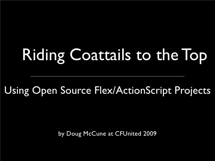 Doug McCune - Using Open Source Flex and ActionScript Projects