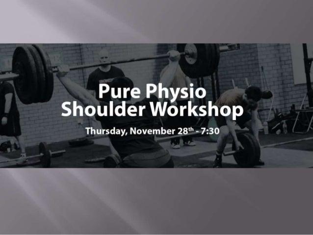 CrossFit-U Shoulder Workshop
