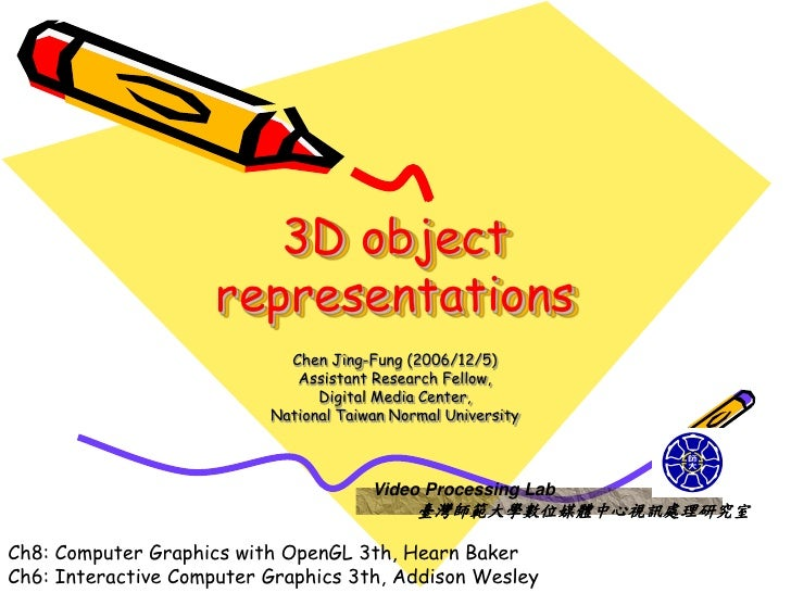 CG OpenGL 3D object representations-course 8