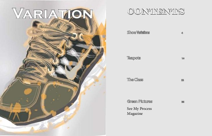 Variation   Contents            Shoe Variations   4            Teapots           14            The Class         22       ...