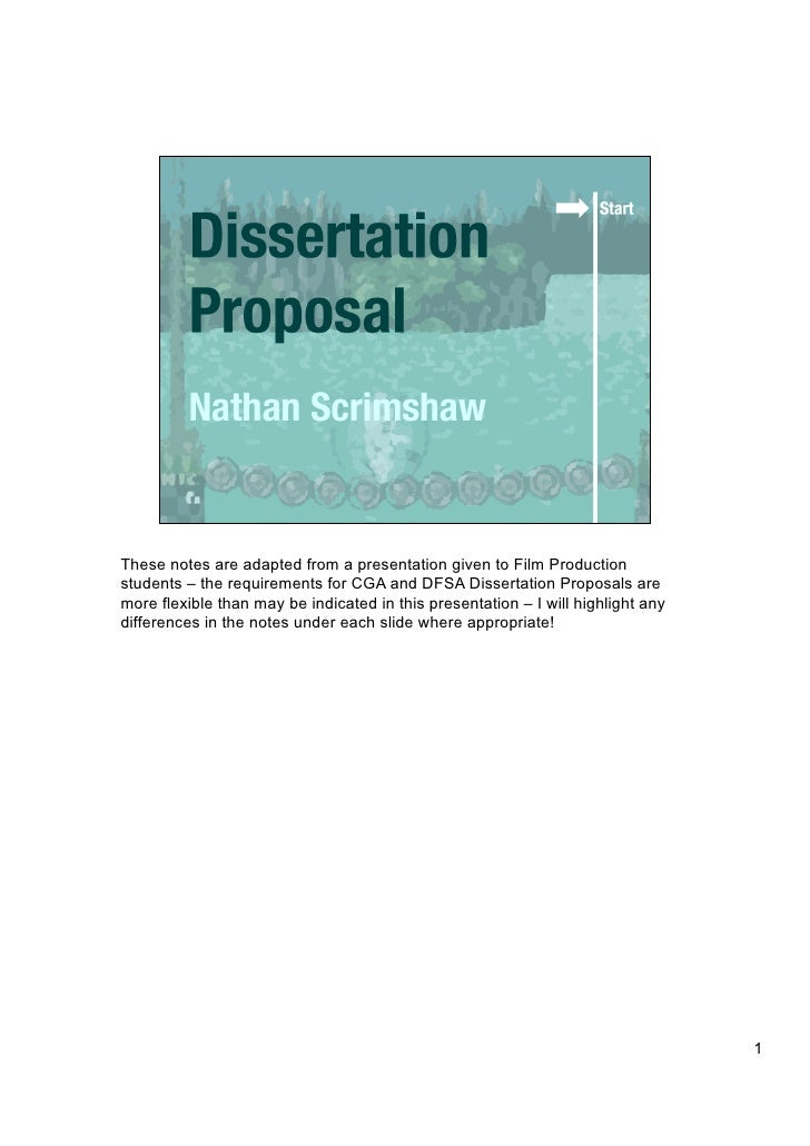 Dissertation Proposals For Marketing