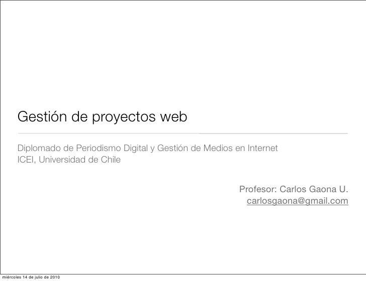Gestión de Proyectos Digitales (Clase 1)