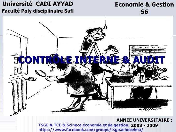 Université CADI AYYAD                            Economie & GestionFaculté Poly disciplinaire Safi                        ...