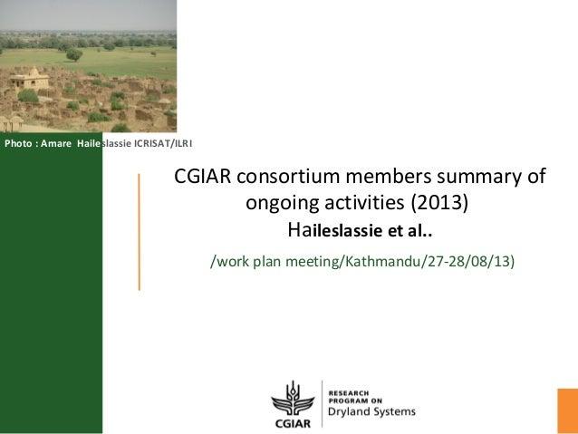 Cg centers summary report