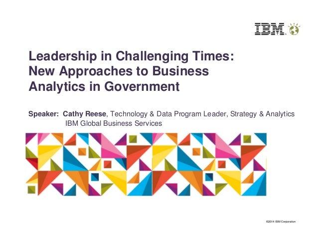 Cge leadership summit   ibm presentation public sector analytics