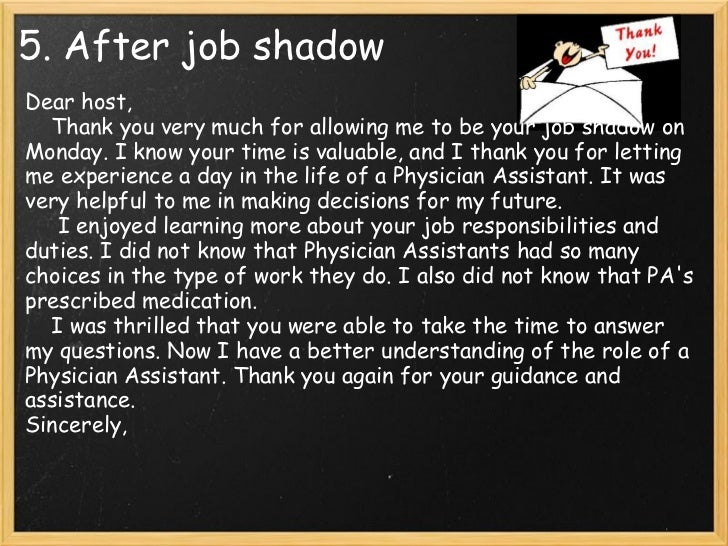 job shadowing email