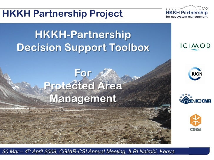 HKKH Partnership Project          HKKH-Partnership      Decision Support Toolbox                       For                ...