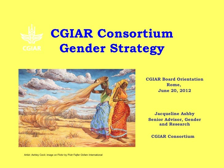 CGIAR Consortium                         Gender Strategy                                                                  ...