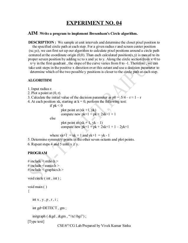 Dda Line Drawing Algorithm Questions : Computer graphics lab manual