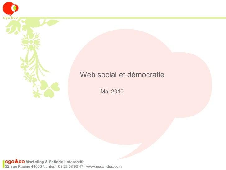 Web social et démocratie       Mai 2010