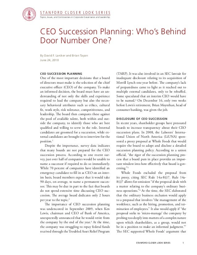 CGRP05 -  CEO Succession Planning: Who's Behind Door Number One?