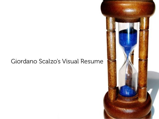 10 minutes of me: Giordano Scalzo's Visual Resume